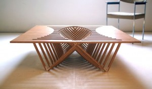 Experimental-Furniture-Kirigami-Inspired-Rising-Table-designed-by-Robert-van-Embricqs-7